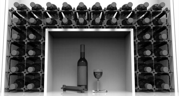 floor standing wine rack nook